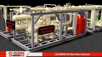 3-D Model of 120 MMSCFD Mol Sieve Dehydration Plant with Construction/Installation Pictures