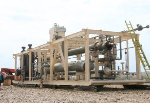 Refurbished cryogenic gas plant