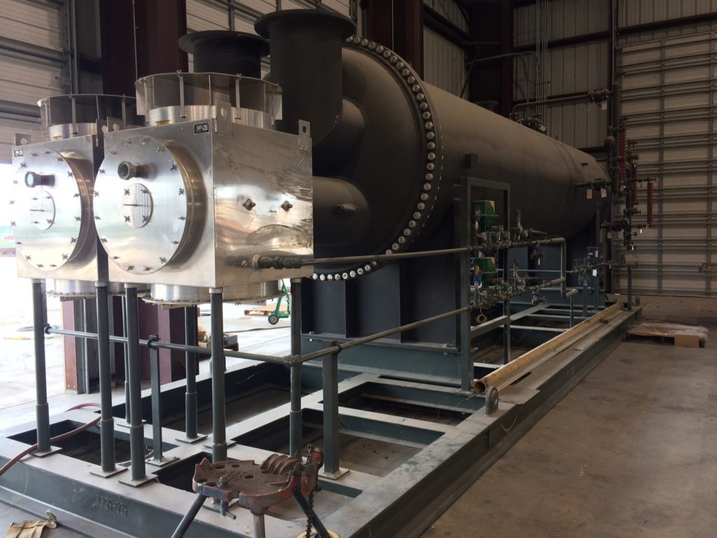 60 GPM Amine Reboiler skid with BMS