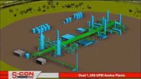 3-D Model of Dual 1,200 GPM Amine Treating Plants with Construction/Installation Pictures