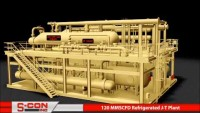 3-D Model of 120 MMSCFD Refrigerated J-T Plant with Construction/Installation Pictures
